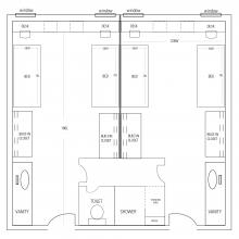 Budding Hall Floor plan