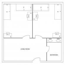 "Carrollton Hall Apartment Type #1 (""1 APT w/ 3S + 1D"")"